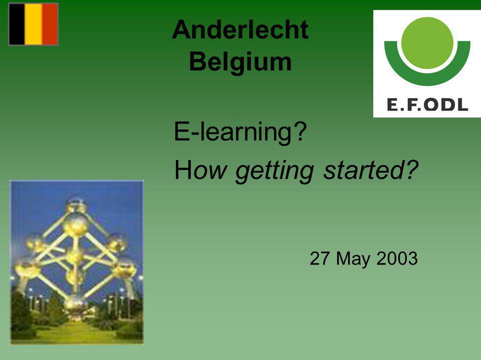 SEVAQ Vision BLCC IBM Education Services Learning Bank Eduwest Hogeschool Limburg Universiteit Hasselt Wes vzw Epyc National partners involved New EU - Project