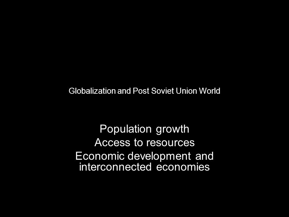 Global population growth since World War II has been concentrated in the poorer nations.