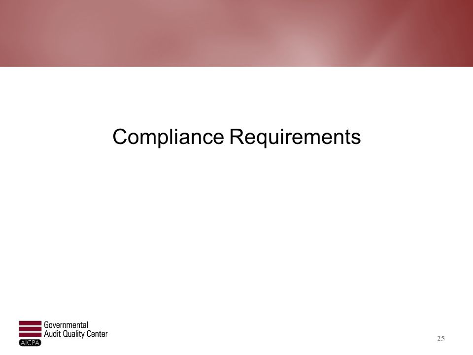 Compliance Requirements 25