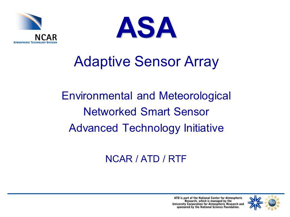 Prototype ASA Deployment Niwot Ridge Colorado 2004 ASA Micro-Sensor Array: Soil Temp.