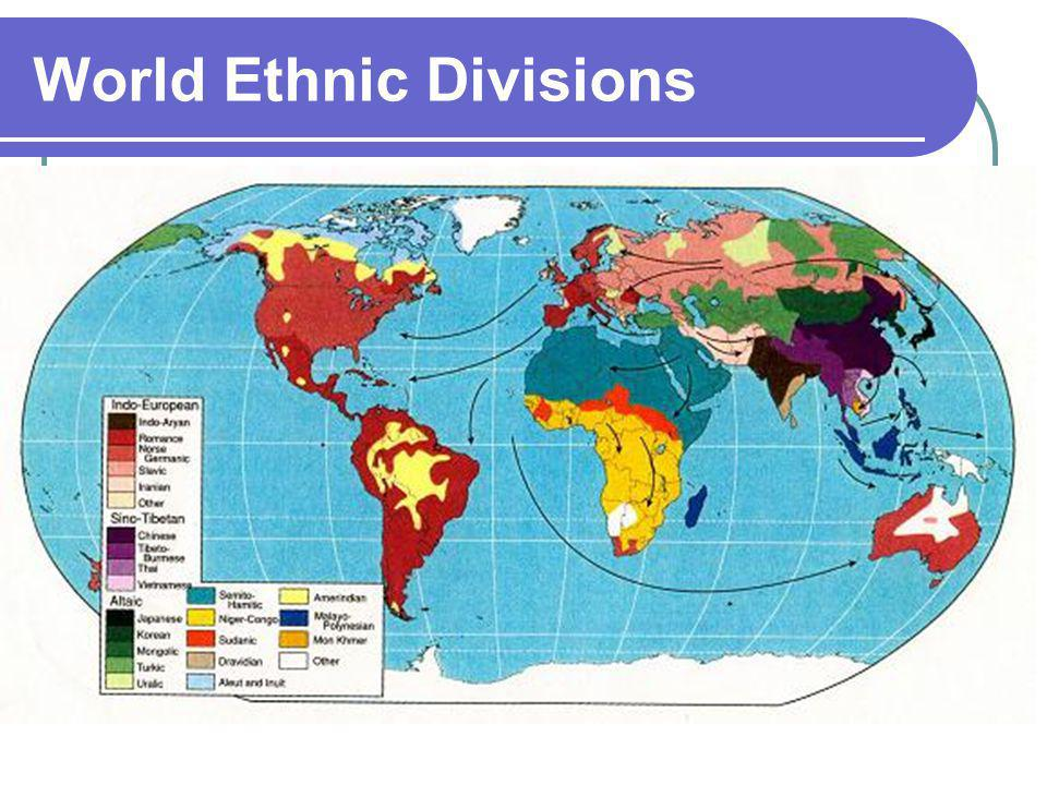 World Ethnic Divisions