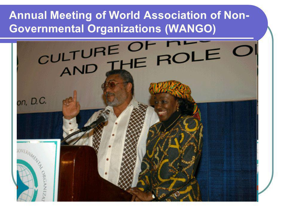 Annual Meeting of World Association of Non- Governmental Organizations (WANGO)