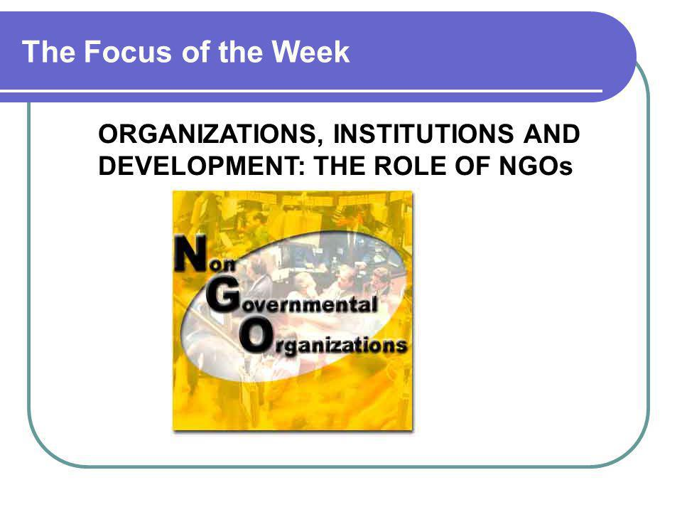 Grassroots Organizations Civic Education Land Rural Industries Rural Credit Governance / Democracy Communication and Support NGOs Women's Focused Groups Target Group Decentralization and Civil Society: A Grassroots Perspective