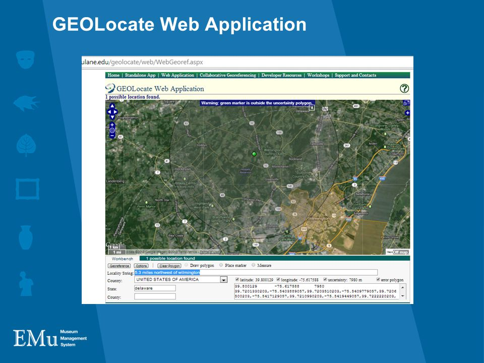 GEOLocate Web Application