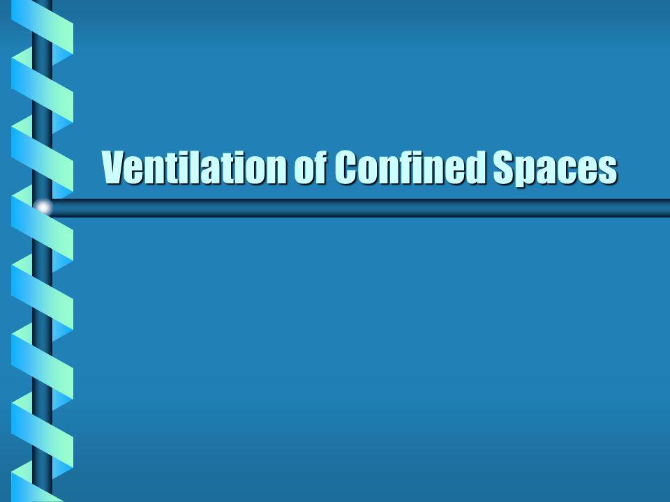 When is ventilation necessary.