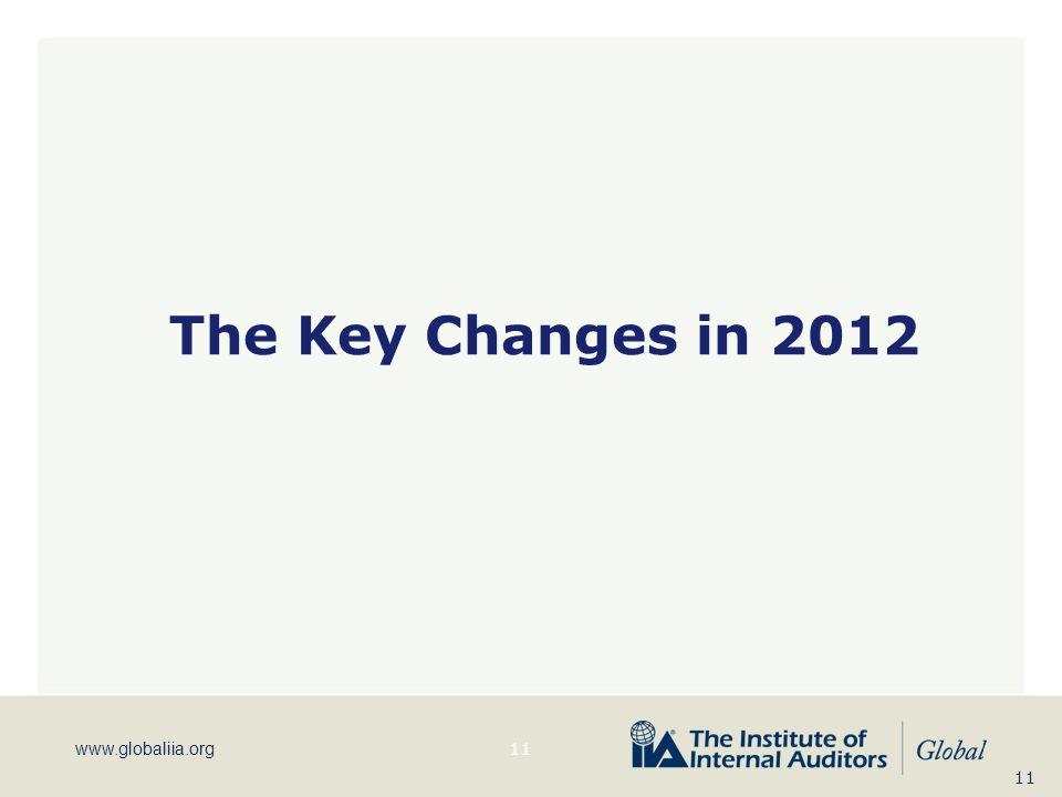 www.globaliia.org The Key Changes in 2012 11