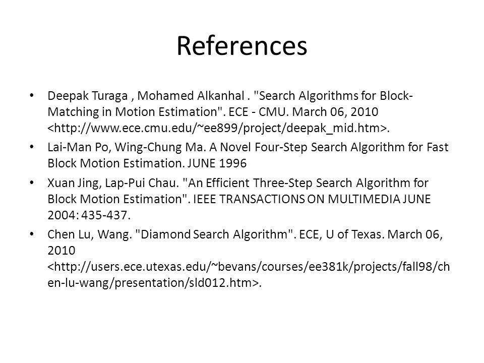 References Deepak Turaga, Mohamed Alkanhal.