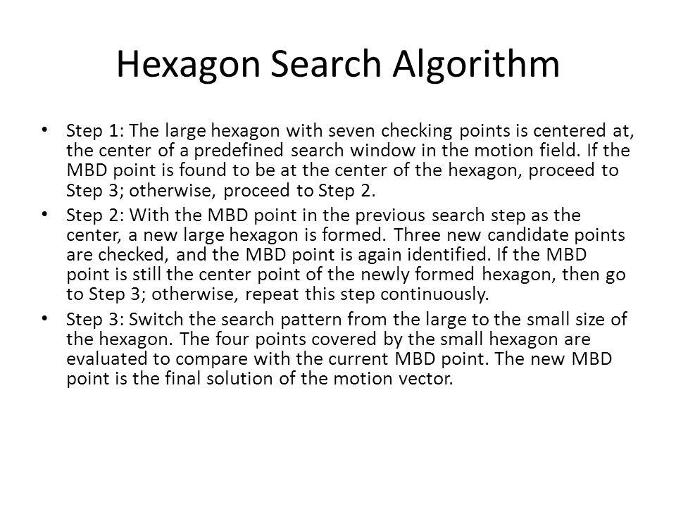 Hexagon Search Example