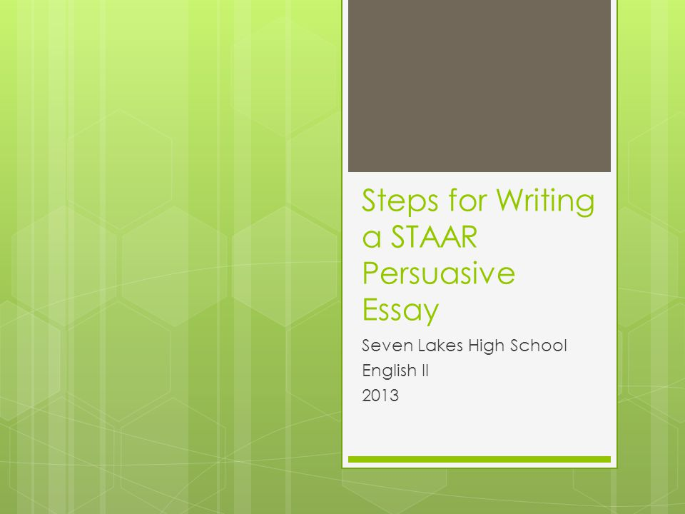 steps to writing the persuasive essay