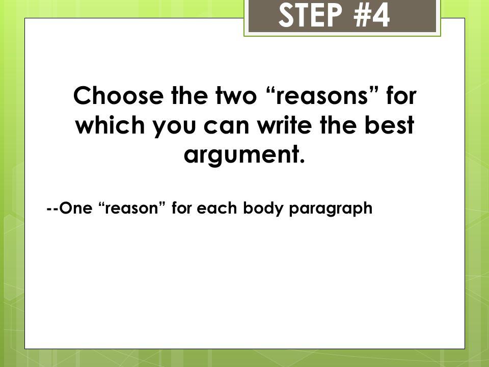 Writing argumentative essays