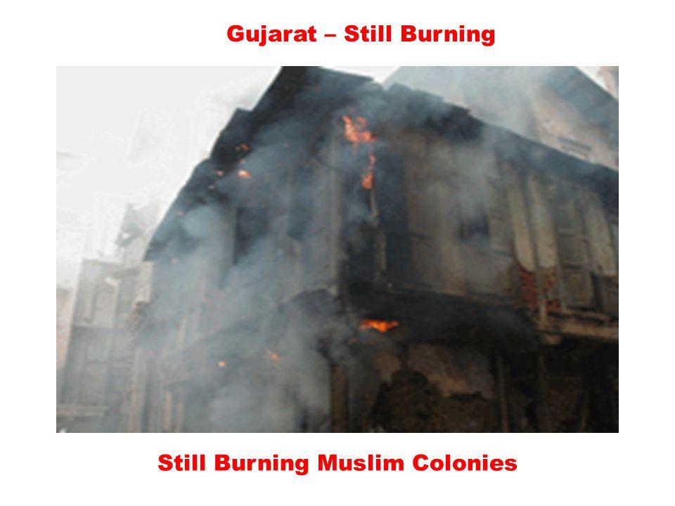 Gujarat – Still Burning Burning Muslim houses – A view of modren India