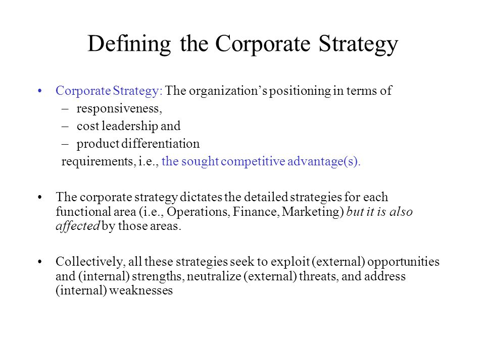 The primary drivers for achieving strategic fit in Supply Chain Strategy (adapted from Chopra & Meindl) Corporate Strategy Supply Chain Strategy EfficiencyResponsiveness FacilitiesInventoryTransportationInformation Market Segmentation