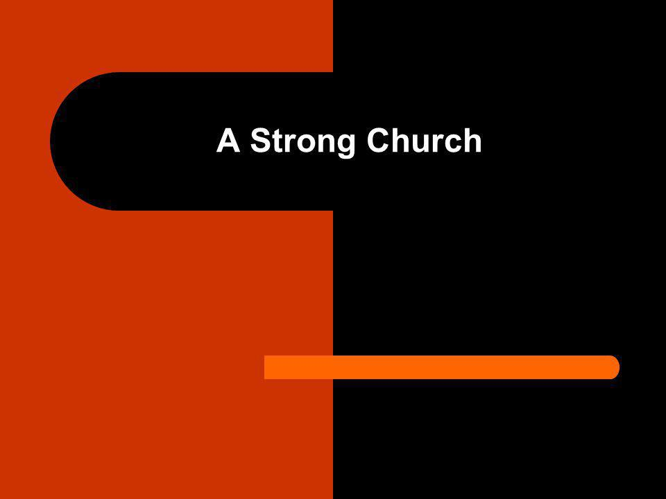 Introduction Our goal should be to help our congregation become a strong church.