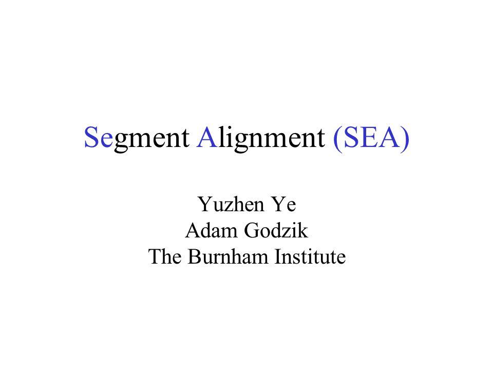 Segment Alignment (SEA) Yuzhen Ye Adam Godzik The Burnham Institute