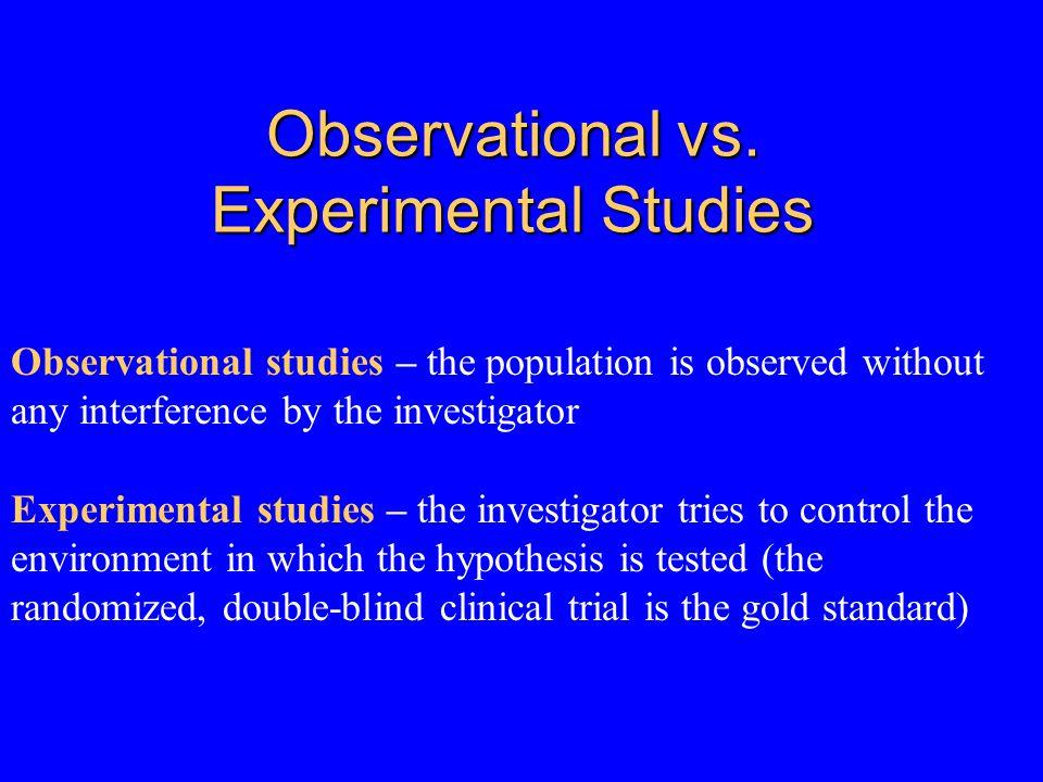 Observational vs.