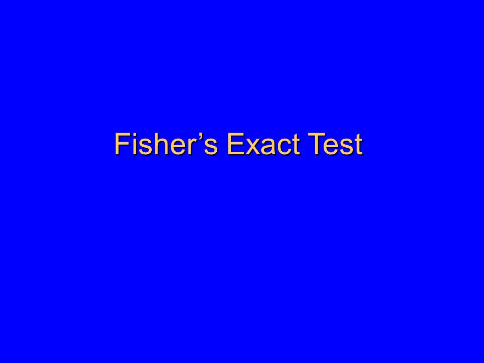 Summary of statistical tests for contingency tables Table SizeTest or measures of association 2x2risk ratio (cohort or cross-sectional studies) odds ratio (case-control studies) Chi-square difference in proportions Fisher's Exact test (cell size less than 5) RxCChi-square Fisher's Exact test (expected cell size <5)