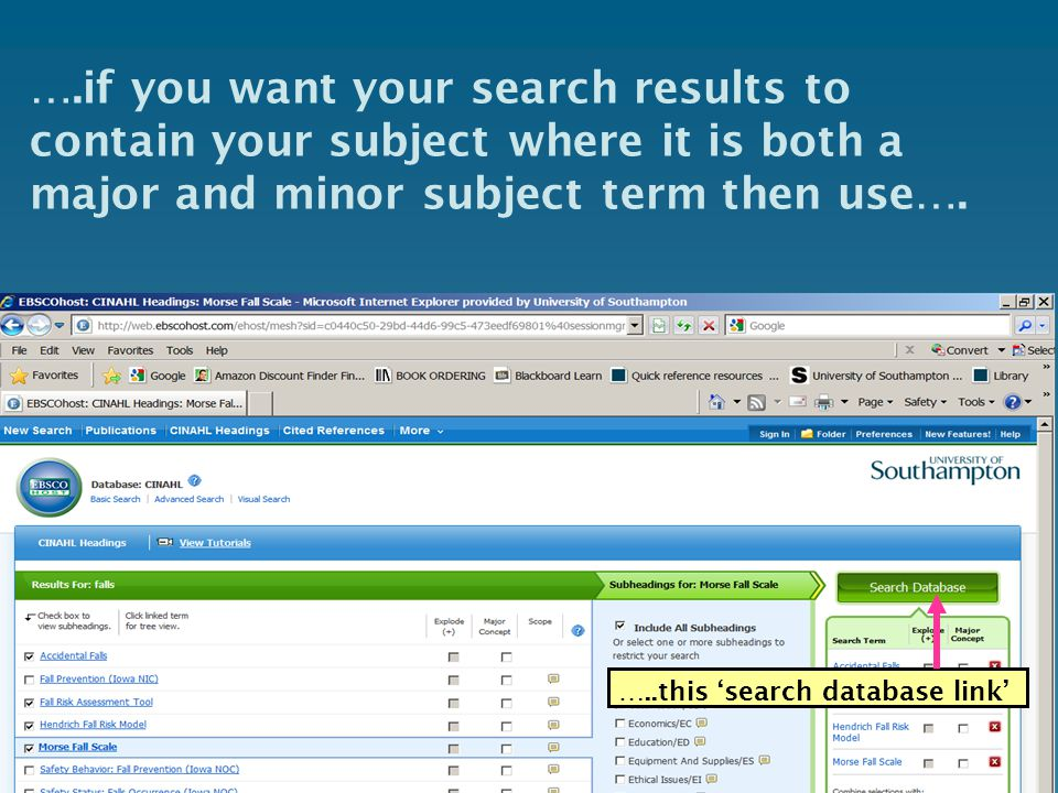 ….if you want your search results to contain your subject where it is both a major and minor subject term then use….