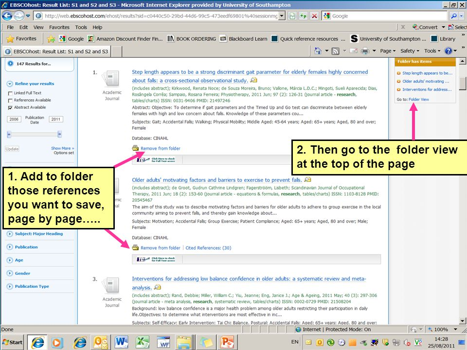 2. Then go to the folder view at the top of the page 1.
