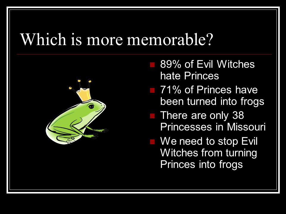 Which is more memorable.