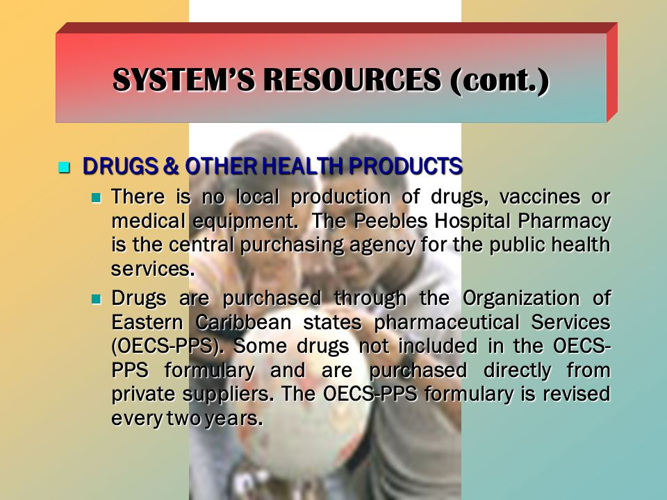 DRUGS & OTHER HEALTH PRODUCTS DRUGS & OTHER HEALTH PRODUCTS There is no local production of drugs, vaccines or medical equipment.
