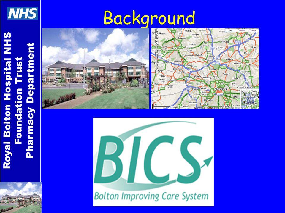 Royal Bolton Hospital NHS Foundation Trust Pharmacy Department Background