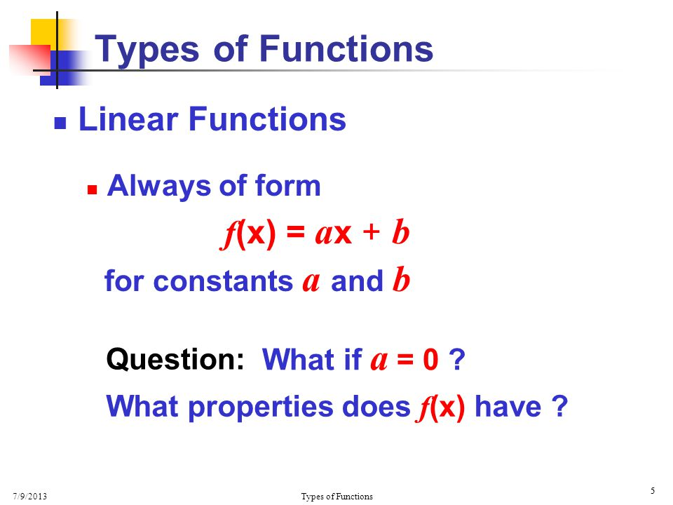7/9/2013 Types of Functions 26  More Secants  What happens to m as h gets smaller and smaller.