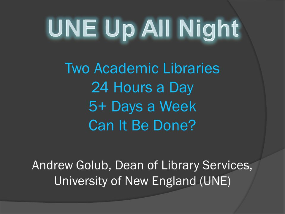 About UNE Libraries