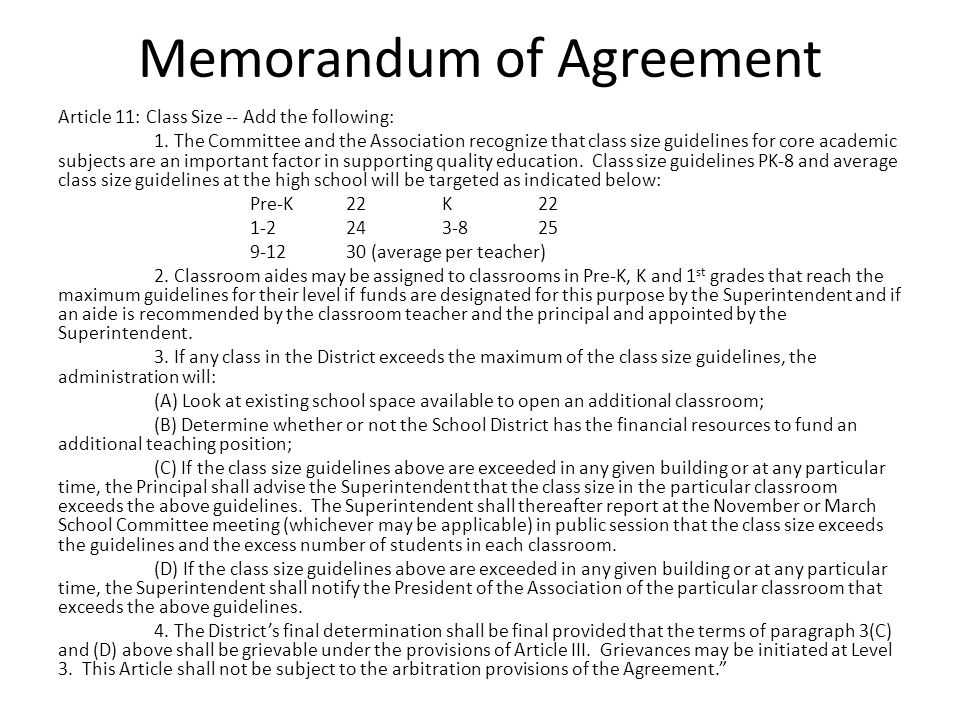 Memorandum of Agreement Article 30: Sick Leave Modify Paragraph H by deleting the reference to five (5) days and replacing with eight (8) .