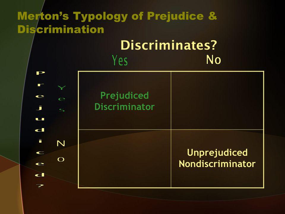 Discriminates.