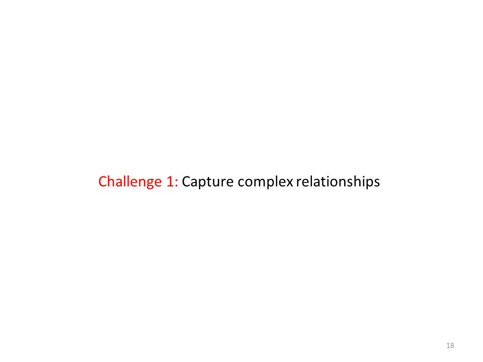 18 Challenge 1: Capture complex relationships