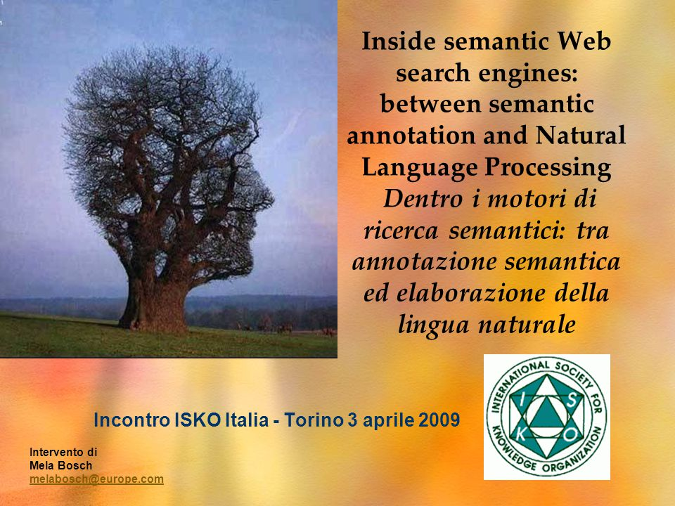 Inside semantic Web search engines: between semantic annotation and Natural Language Processing Dentro i motori di ricerca semantici: tra annotazione