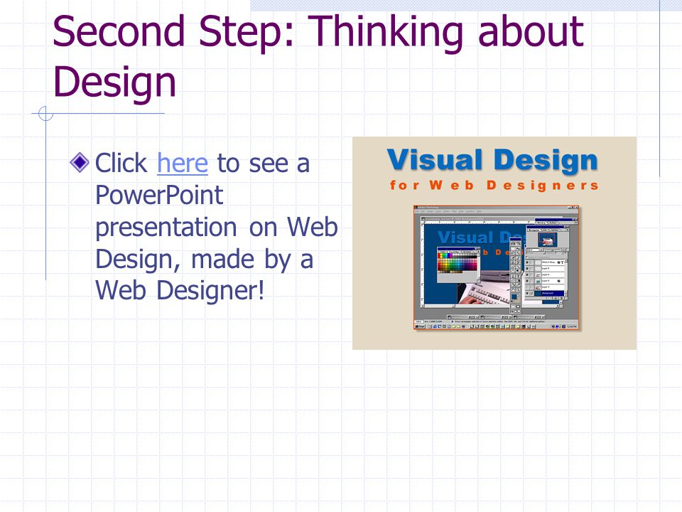 Third Step: Creating the Architecture for Your Site FrontPage automatically creates part of the necessary structure, such as: Images folder Private folder A website is basically made of folders dividing each topic.
