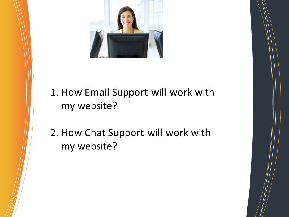 1.How  Support will work with my website 2.How Chat Support will work with my website