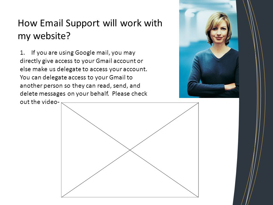 How Email Support will work with my website. 1.