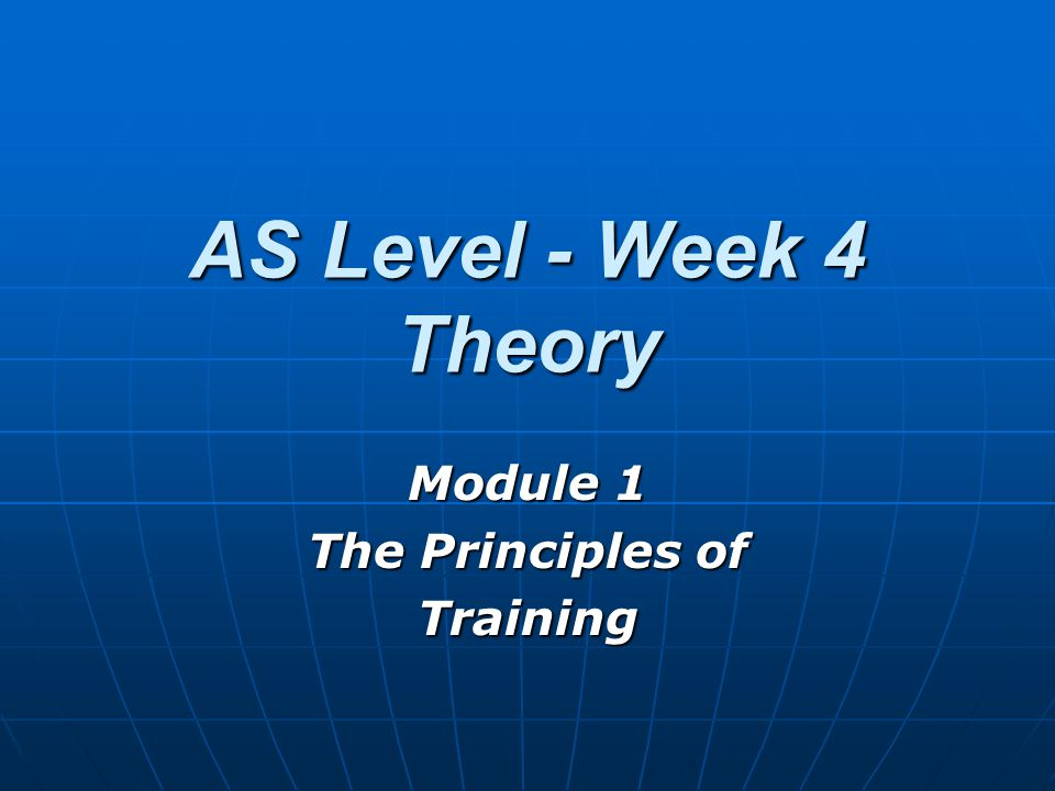 Principles of Training (text book cross reference pg 145 to 146) The principles of training are essentially the rules or laws that underpin a training programme. Without these principles, the benefits of any training undertaken will be small and inconsequential.