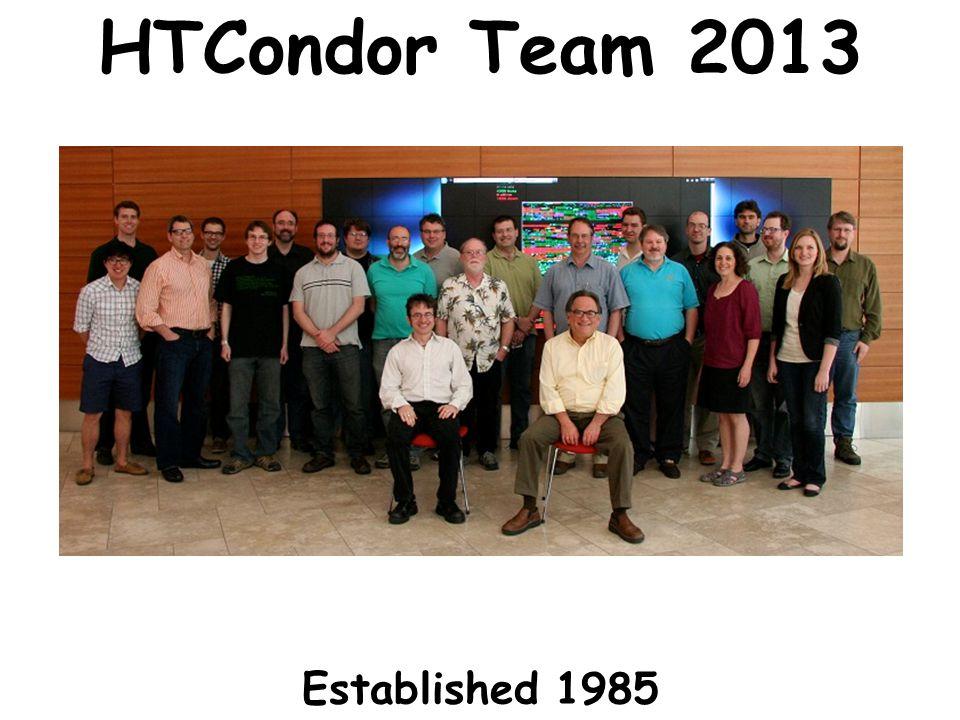 www.cs.wisc.edu/~miron 2 HTCondor Team 2013 Established 1985