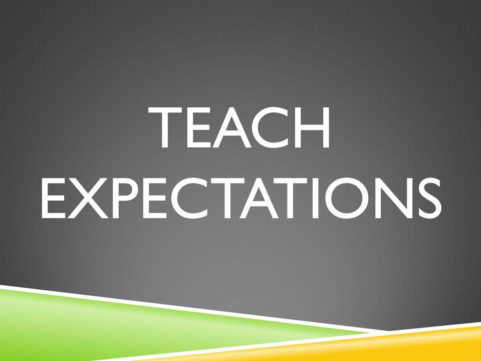 TEACH EXPECTATIONS