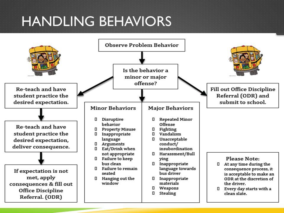 HANDLING BEHAVIORS  Flow Chart