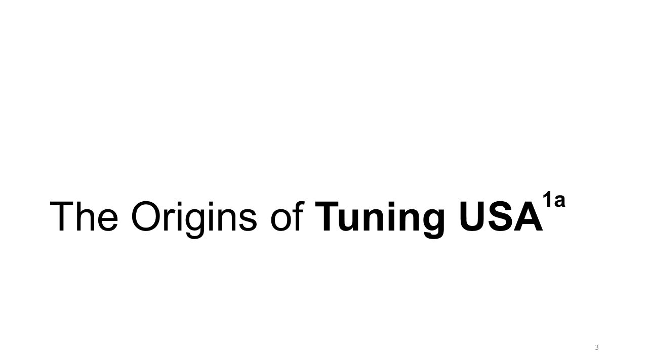 Tuning USA, Like Other Tuning Processes Worldwide, Had Its Origins in Europe (1999) in a Project Called Tuning Educational Structures in Europe 1,1a 4