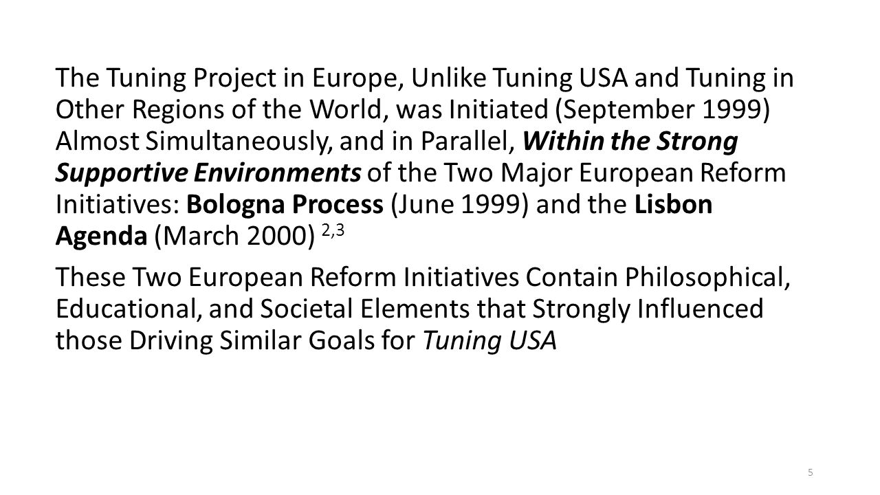 The Evolution of Tuning European Structures (i.e.