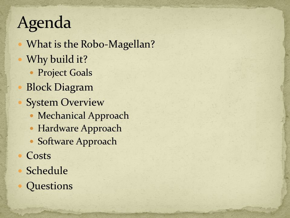 What is the Robo-Magellan. Why build it.