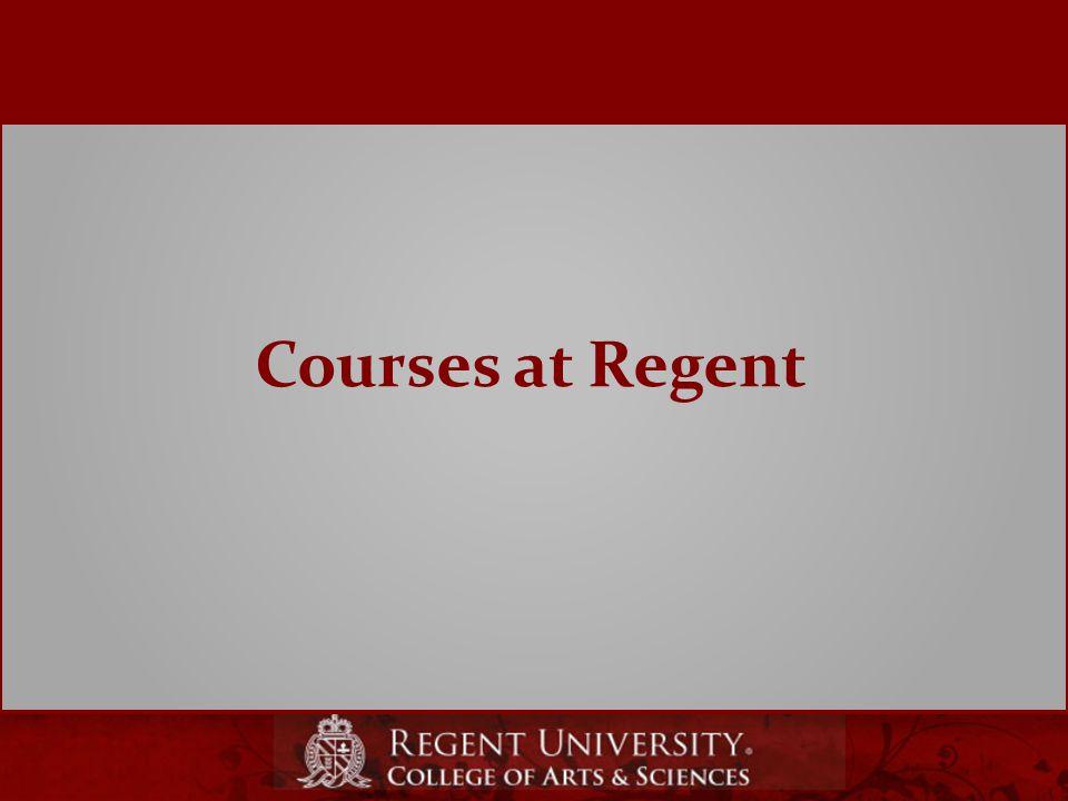 Courses at Regent