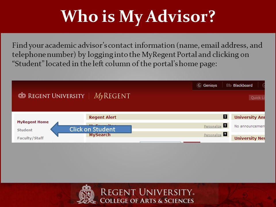 Who is My Advisor.