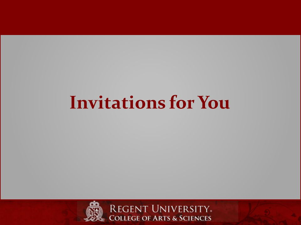 Invitations for You