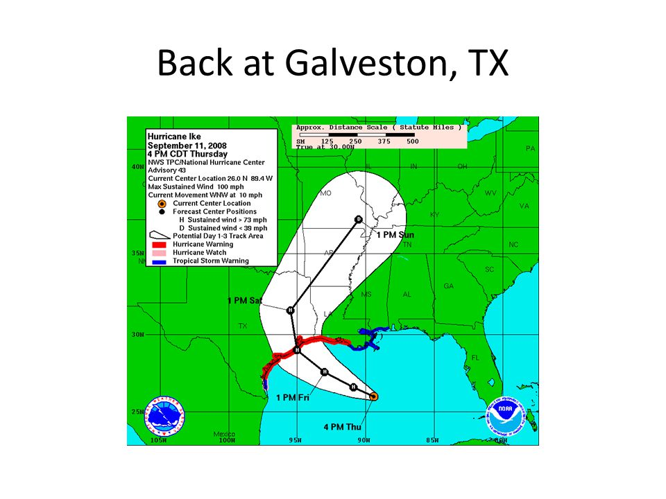 Back at Galveston, TX