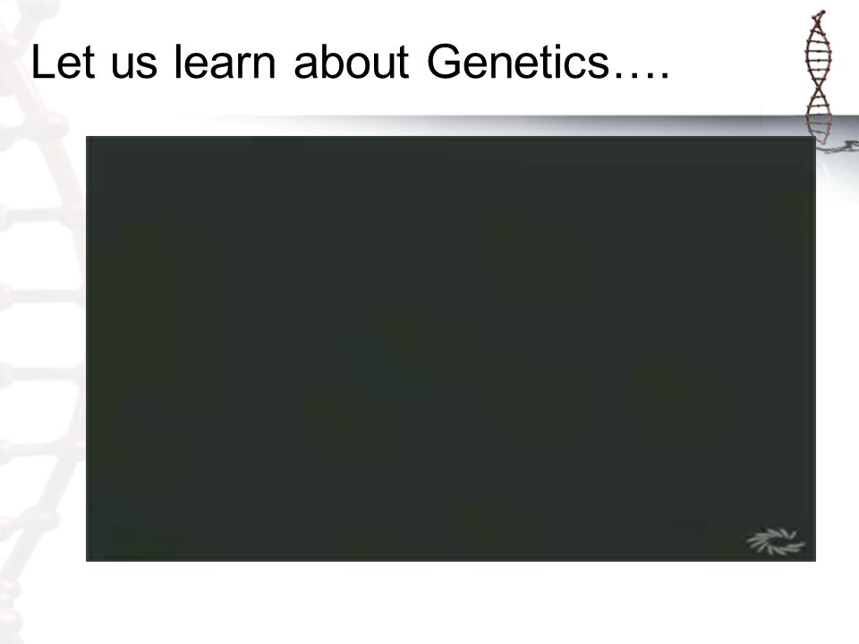 Let us learn about Genetics….