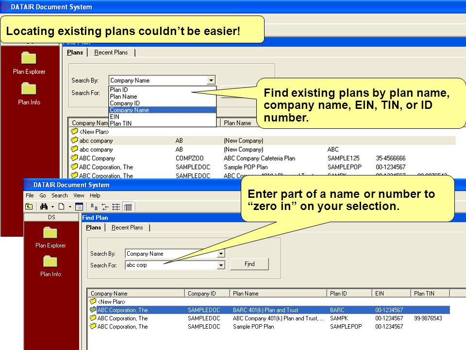 Choose to print multiple forms at once. Define groups of forms to print for each plan.