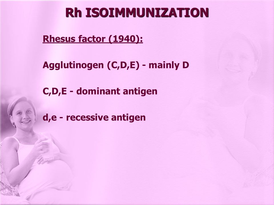 Kleihauer-Betke technique: (acid elution test) - measure amount of feto- maternal haemorrhage If 0,1-0,25 ml of fetal blood leakes (critical volume)  isoimmunization represented by 5 fetal cells in 50 low power microscopic field of peripheral maternal blood So 1 ml is represented by 20 fetal cells