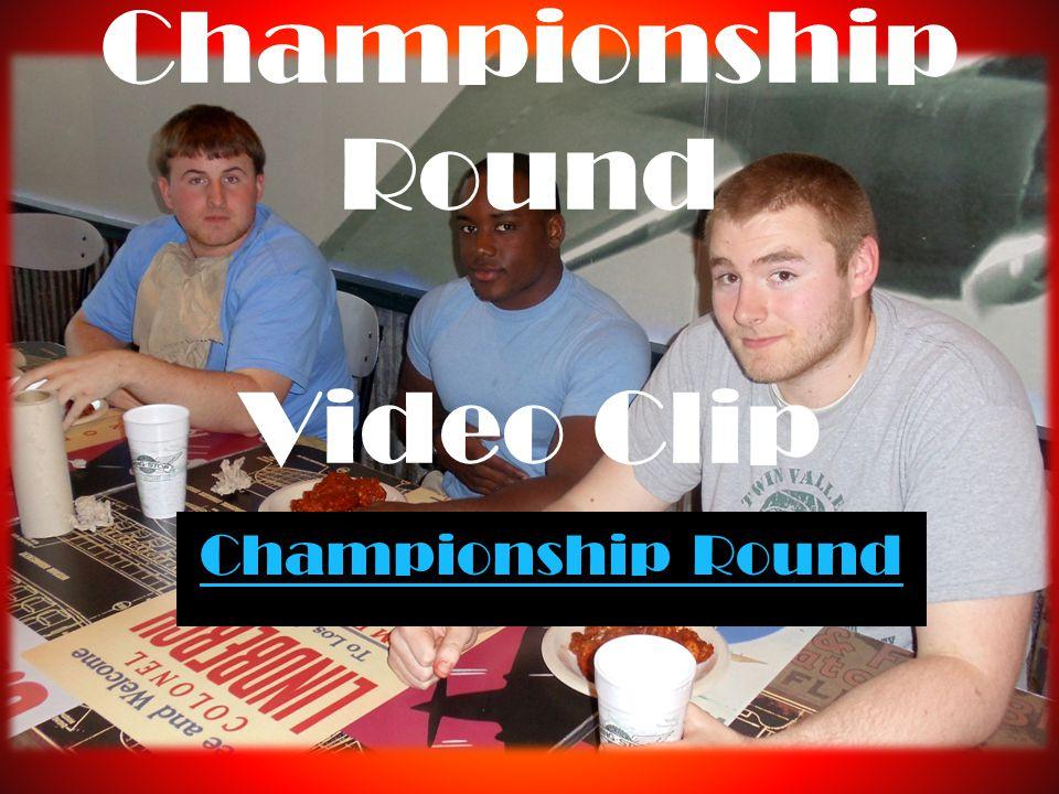 Championship Round Video Clip Championship Round