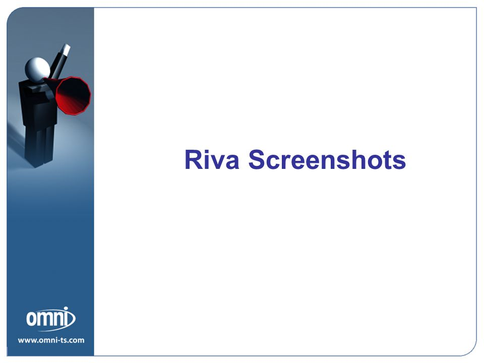 Riva Screenshots Value Proposition